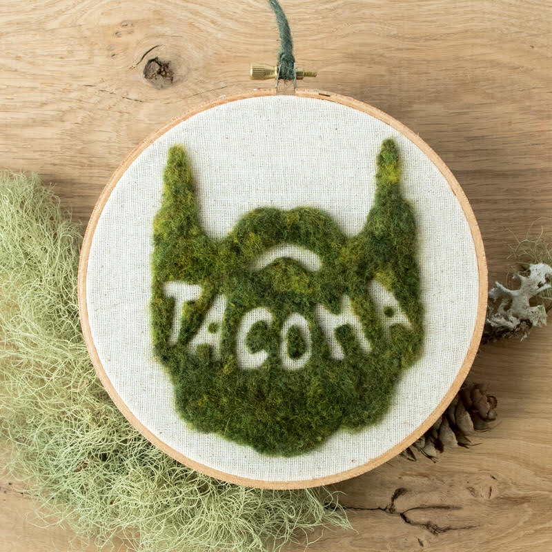 "Local Artist Celebrates Tacoma and ""Mossington State"" With Needle Felt"