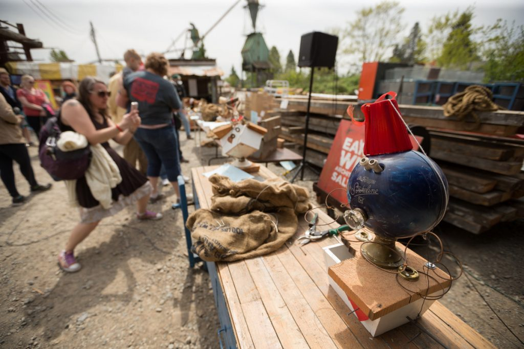 Check out the Sculptures from the Historic Preservation Kickoff Party