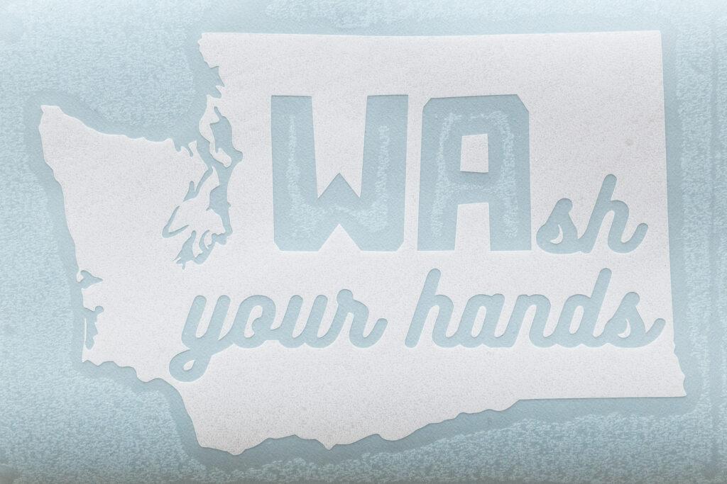 Wash your hands state sticker WA
